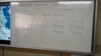 Coğrafya Dersinde İstasyon Tekniği (Türkiye'nin Coğrafi Konumu) izle