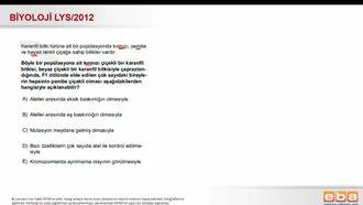 2012 LYS Biyoloji Eksik Baskınlık izle