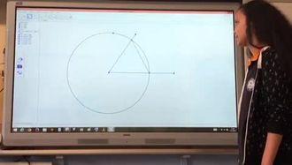 Geogebra ile açıortay çizme ders etkinliği 3. Video izle