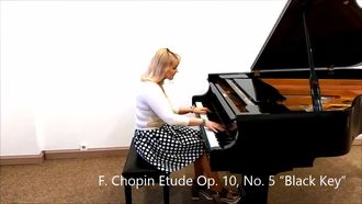 F. Chopin Etude Op. 10, No. 5 Black Key izle