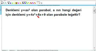 Parabolün Grafiğinin Çizimi Ve Doğru İle Parabolün Ve İki Parabolün Durumları 18 ... izle
