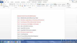 Ders 15 - Evrak Akış Şeması izle