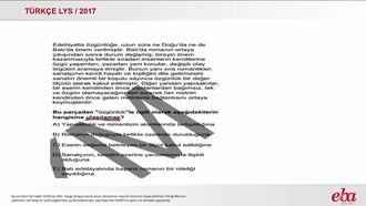 Paragrafın Yardımcı Düşünceleri (LYS 2017-TÜRK DİLİ VE EDEBİYATI) izle