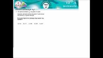 MEB 2016-2017 EBA YGS MATEMATİK TEST 17 izle