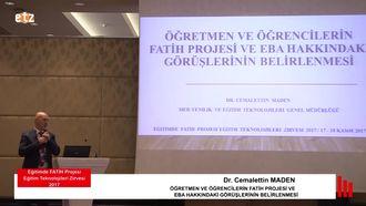 FATİH ETZ 2017: Dr. Cemalettin MADEN - ÖĞRETMEN VE ÖĞRENCİLERİN FATİH PROJESİ VE ... izle