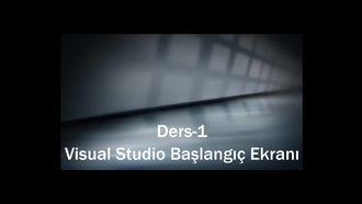 Ders-1 Visual Studio Başlangıç Ekranı izle