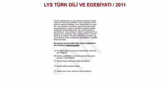 2011/LYS METNİN YARDIMCI DÜŞÜNCELERİ izle