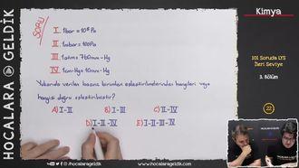 101 Soruda LYS Kimya 3.Bölüm izle