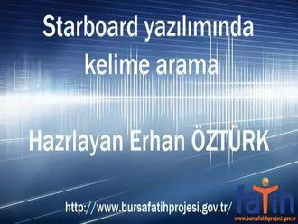 Starboard Yazılımını ile Kelime Arama izle