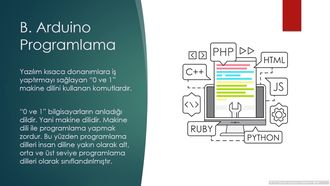 5 - B. Arduino Programlama izle