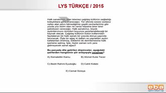 2015 LYS CUMHURİYET DÖNEMİ ŞİİRİ/ II. YENİ izle