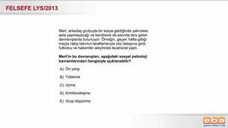 2013 LYS Sosyal Psikoloji izle