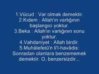 Allah'ın Zati ve Subuti Sıfatları izle