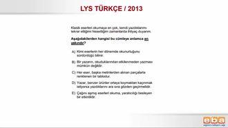 YGS 2013/ YAKIN ANLAMLI CÜMLELER izle