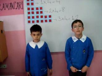 2. Sınıf 4 ile Çarpma İşlemi izle
