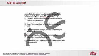 Yazım Kuralları, Büyük Garflerin Kullanımı (LYS 2017-TÜRK DİLİ VE EDEBİYATI) izle