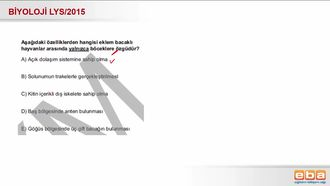 2015 LYS Biyoloji Canlıların Sınıflandırılması izle