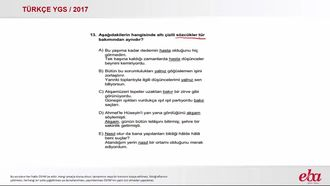 YGS 2017 / Türkçe ( Dil Bilgisi / Sözcük Türleri) izle