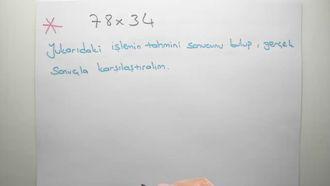 5. sınıf matematik ÇARPMA VE BÖLME İŞLEMİNİN SONUCUNU TAHMİN ETME konu anlatımı izle