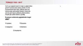 Anlatım Çeşitleri (2017 YGS-Türkçe) izle