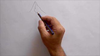 Karakalem Dağ Manzarası Çizimi izle