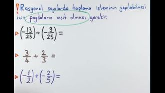 7. Sınıf Matematik Rasyonel Sayılarla Toplama-Çıkarma izle