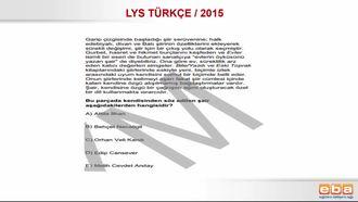 LYS 2015 CUMHURİYET DÖNEMİ TÜRK ŞİİRİ izle