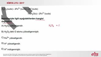 İndirgenme- Yükseltgenme Tepkimeleri ( 2017 LYS- KİMYA) izle