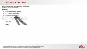 ekok-ebob (2017 LYS - MATEMATİK) izle