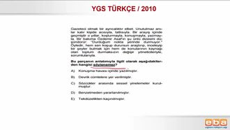2010 YGS TÜRKÇE/ PARAGRAFIN ANLAMI, ANLATIMI VE YAPISI izle