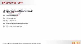2010 YGS Biyoloji Bitkilerin Sınıflandırılması izle