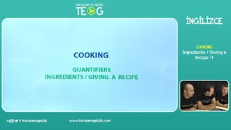 Ingredients / Giving a Recipe -1 izle