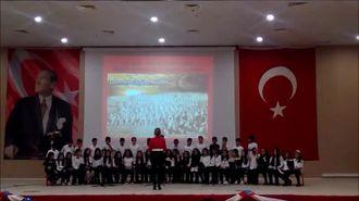 Okulumuz Batman Atatürk Ortaokulunun 18 Mart Şehitleri Anma Günü Etkinliği Koro Çal�... izle