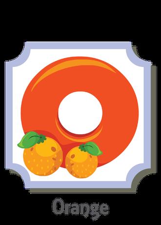 """İngilizce alfabede bir resimle """"o"""" harfini tanır.(Orange)"""