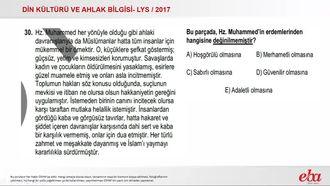 Hz. Muhammed'in Örnekliği(2017 LYS-DKAB) izle