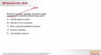 2010 LYS Biyoloji Sempatik Sinir Sistemi izle