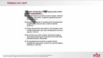 Cümlenin Anlamı ve Yorumu (LYS 2017- TÜRK DİLİ VE EDEBİYATI) izle