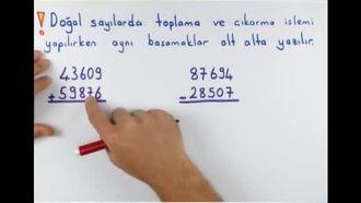 5. Sınıf Matematik Doğal Sayılarla Toplama ve Çıkarma izle