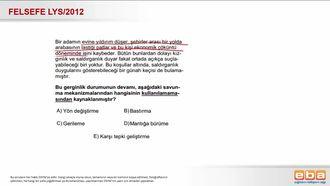 2012 LYS Savunma Mekanizmaları izle