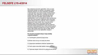 2014 LYS4 Felsefe Sosyolojik Bakış Açısı izle