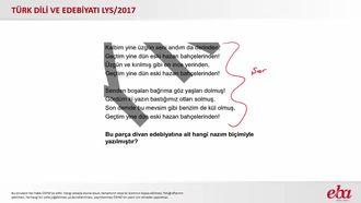 Divan Edebiyatı Nazım Biçimleri (2017 LYS- TÜRK DİLİ VE EDEBİYATI) izle