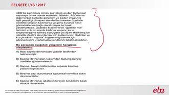 Toplumsal Sapma (2017 LYS- FELSEFE) izle