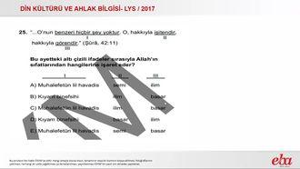 Allah'ın Sıfatları(2017 LYS- DKAB) izle