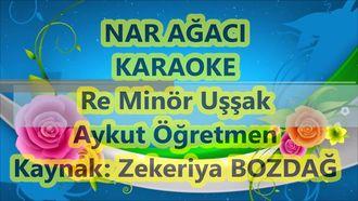 Okul korosu için Nar Ağacı Re Minör Uşşak Karaoke Lyrics Md Altyapısı Şarkı Söz... izle
