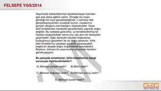 2014 YGS Felsefe Bilimsel Yöntem izle