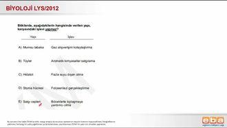 2012 LYS Biyoloji Bitkisel Yapılar izle