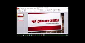 PHP İLE DİNAMİK WEB PROGRAMLAMA  -  Php İçin Neler Gerekli izle