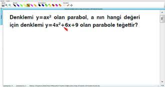 Parabolün Grafiğinin Çizimi ve Doğru ile Parabolün ve İki Parabolün Durumları 18 izle