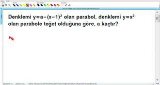 Parabolün Grafiğinin Çizimi ve Doğru ile Parabolün ve İki Parabolün Durumları 17 izle
