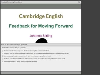 Feedback for moving learning forward Stirling izle